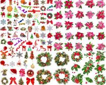 花朵花圈圣诞装饰摄影高清图片