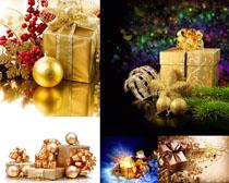 圣誕節包裝禮物攝影高清圖片