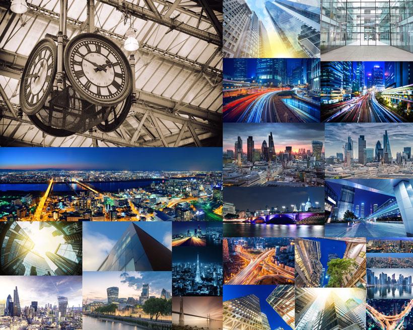 繁榮城市建筑攝影高清圖片