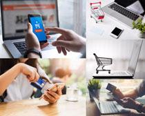 數碼購物銀行卡攝影高清圖片