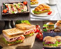 法式早餐面包摄影高清图片