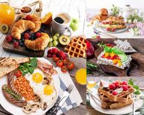 面包早餐食物拍摄高清图片