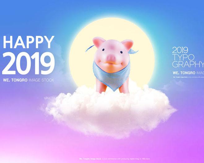2019金猪宝宝PSD素材
