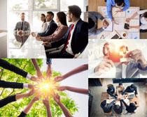 国外商务人士会议合作摄影高清图片