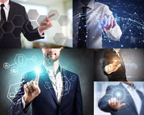 触屏商务科技人士摄影高清图片