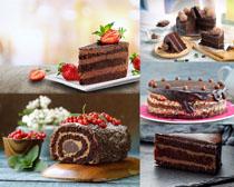 巧克力蛋糕草莓摄影高清图片