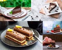 精品巧克力蛋糕摄影高清图片