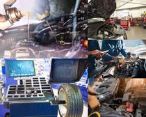 汽车维护检查摄影高清图片