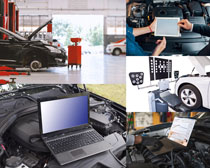 汽车数据检查摄影高清图片