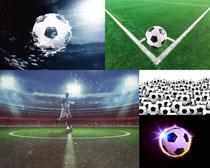 足球與比賽場地攝影高清圖片