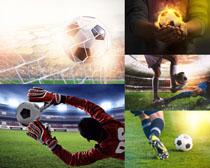 踢足球運動比賽攝影高清圖片