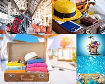旅行箱裝備攝影高清圖片
