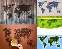 咖啡与地图摄影高清图片