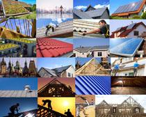 房屋頂棚建筑攝影高清圖片
