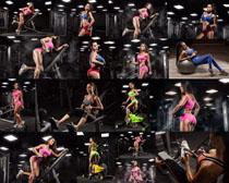 女性健身器材攝影高清圖片