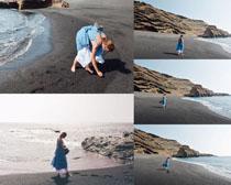 海灘歐美美女拍攝高清圖片