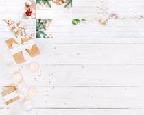 圣诞礼物盒木板PSD素材