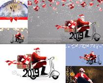 圣诞老人送礼物摄影高清图片