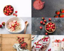 小麦与草莓摄影高清图片