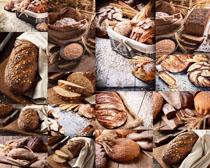 小麦与面包展示摄影高清图片