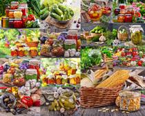 罐头食物展示摄影高清图片