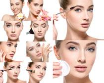 化妆笔与美女摄影高清图片