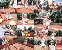 网球运动美女摄影高清图片