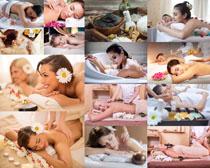 SPA护理按摩美女拍摄高清图片
