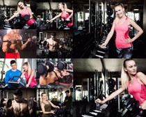 健身運動的人們攝影高清圖片