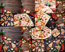 披萨食材食物摄影高清图片