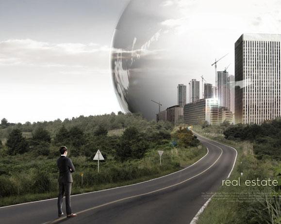 道路与城市发展商务PSD素材