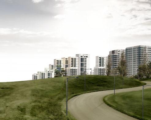 地產大樓建筑景觀PSD素材