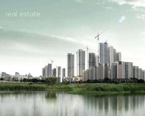 房地產建筑風光PSD素材