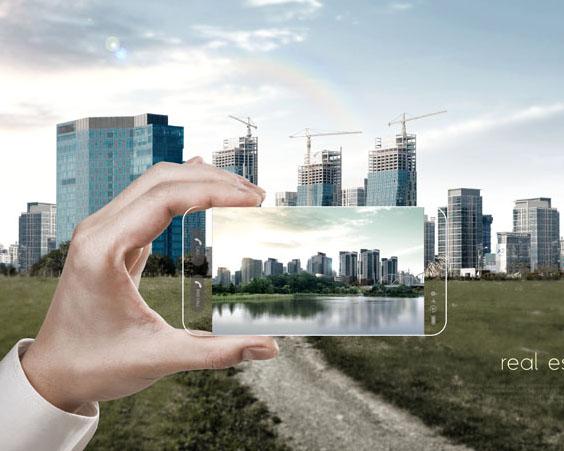 手機拍攝地產建筑PSD素材