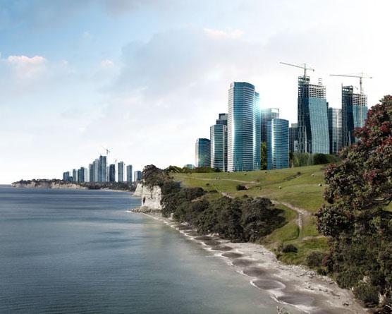 海邊建筑地產PSD素材