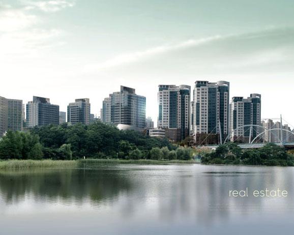 公園式地產建筑PSD素材