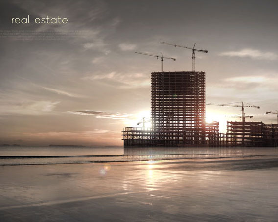 工程房地產建筑景觀PSD素材