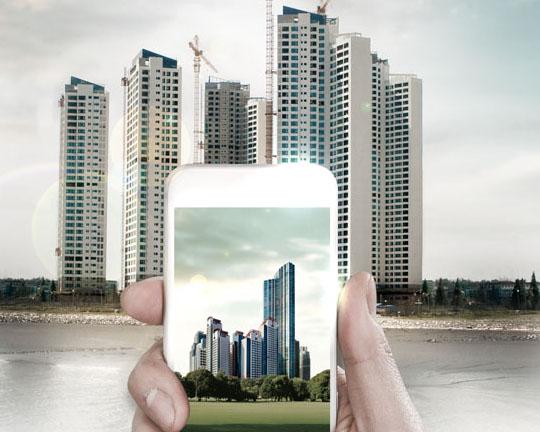 手機中的建筑房地產PSD素材