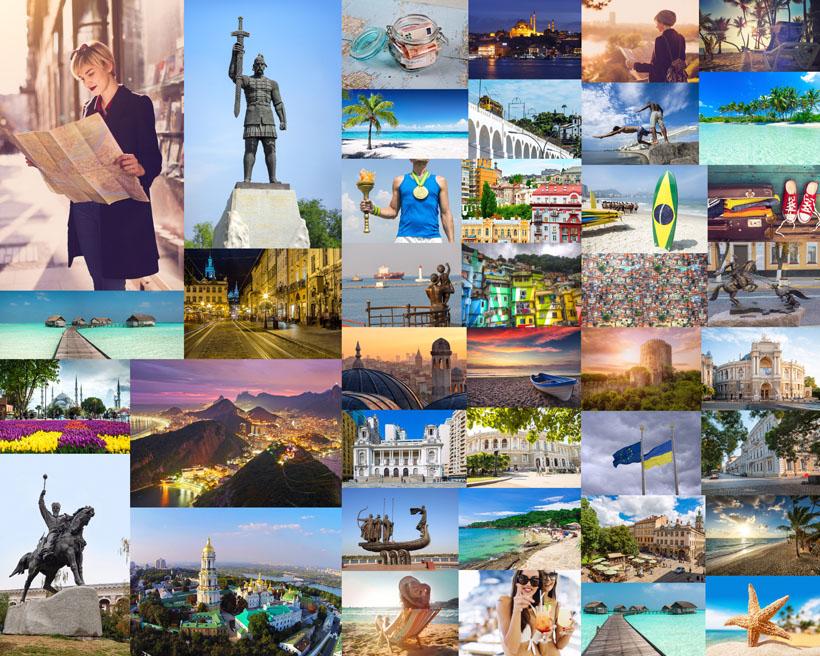 旅游建筑风格拍摄高清图片