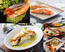 烤三文鱼摄影高清图片