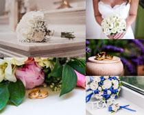 花朵与戒子摄影高清图片