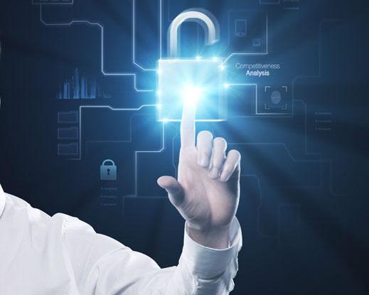 科技锁点击手PSD素材