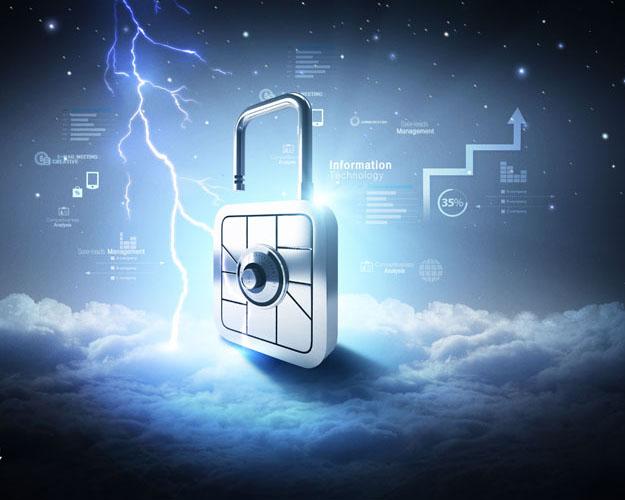 科技背景与锁PSD素材