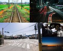交通道路风景拍摄高清图片