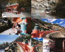 山峰寺院拍摄高清图片