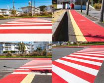 交通斑马线摄影高清图片