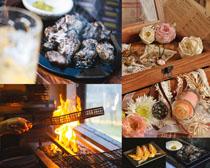 烧烤与花朵摄影高清图片