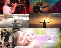 音乐家与宝贝摄影高清图片