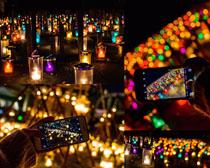 美麗的色彩燈光攝影高清圖片