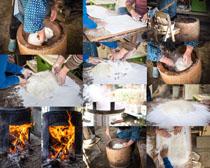 面粉制作食物摄影高清图片